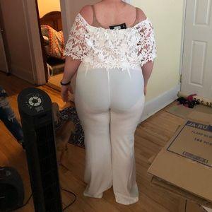 White jumpsuit (Fashion Nova)